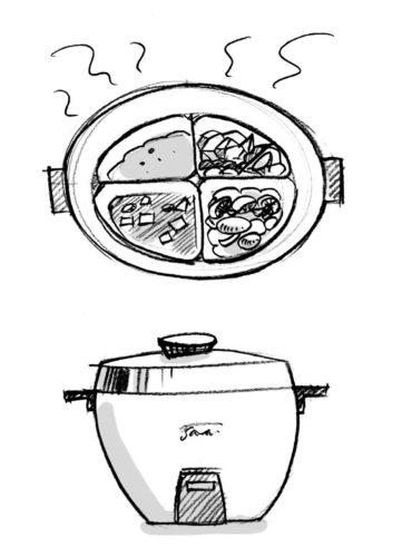レトロ家電 4分割炊飯器