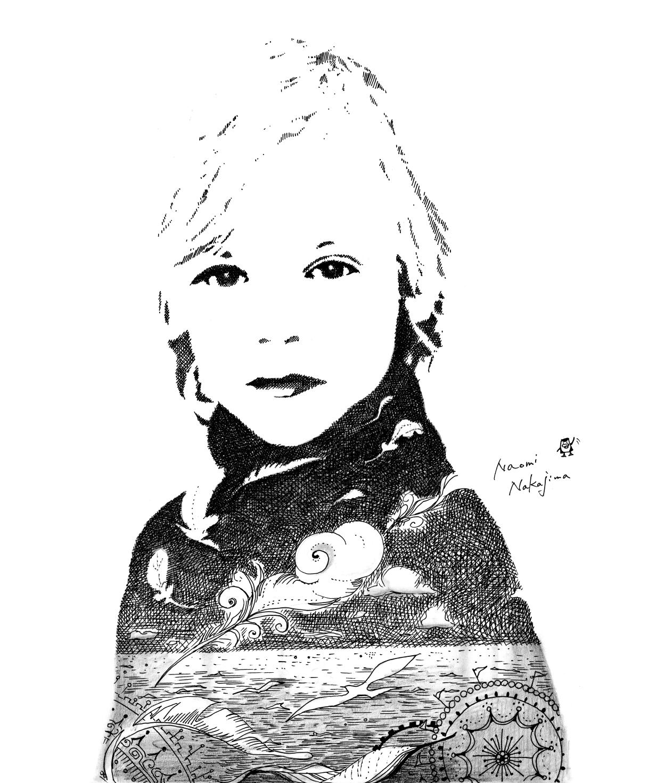 少女の線画