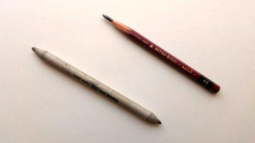 鉛筆と擦筆